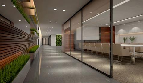 海博恩医药公司办公室现代风格