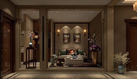新田城300平方米欧式风格别墅设计
