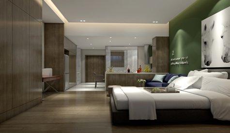 晋江高铁城单身公寓 现代风格