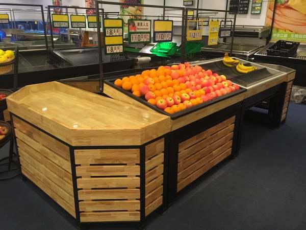 钢木水果货架