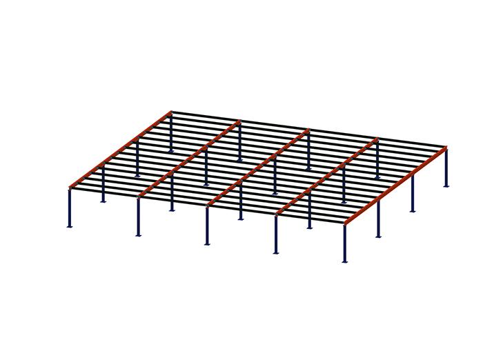 钢平台-主次梁框架结构