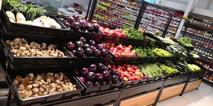 安阳生鲜店蔬菜水果超市货架案例