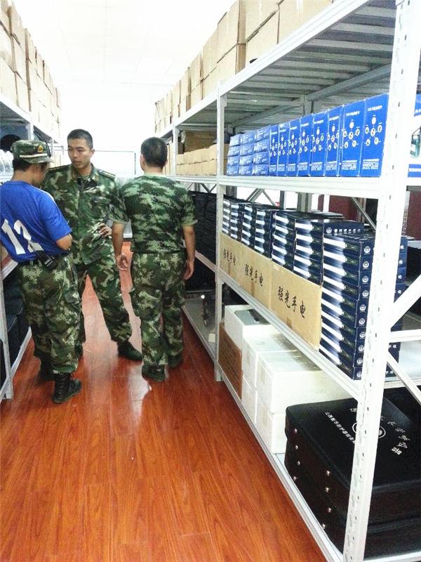 武警部队货架