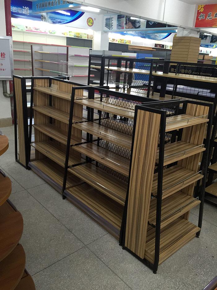 母嬰店鋼木貨架