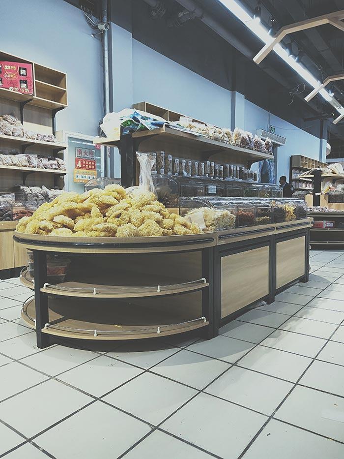 超市钢木堆头