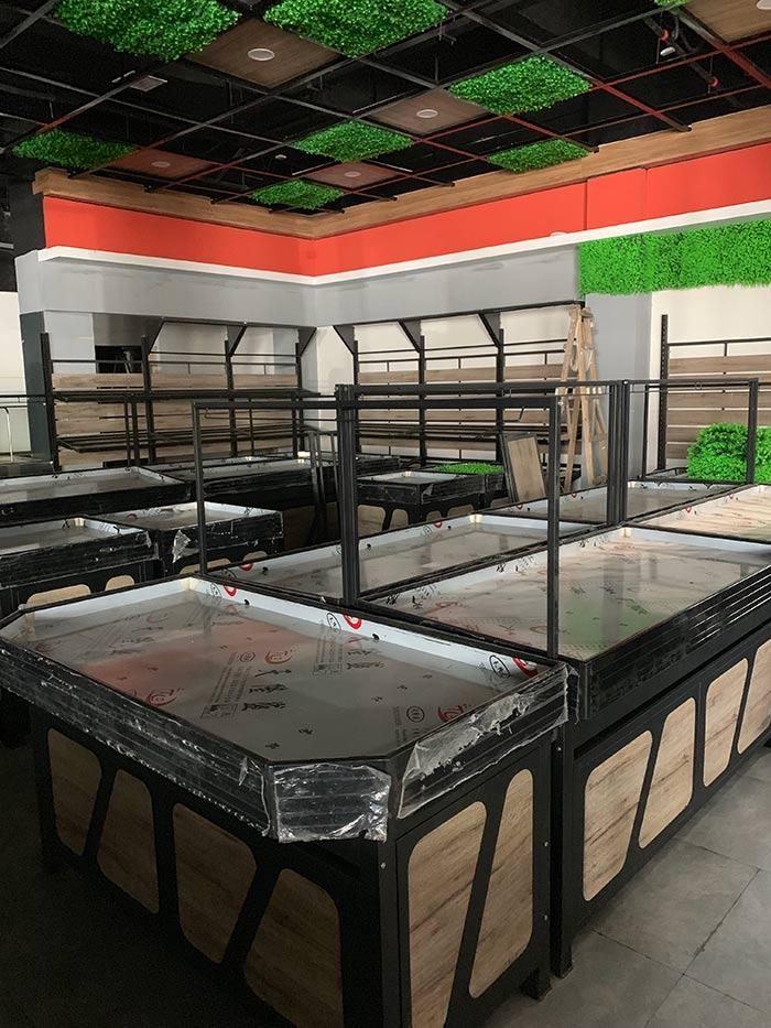 超市鋼木生鮮水果貨架