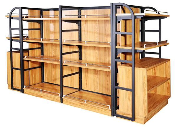 超市钢木货架