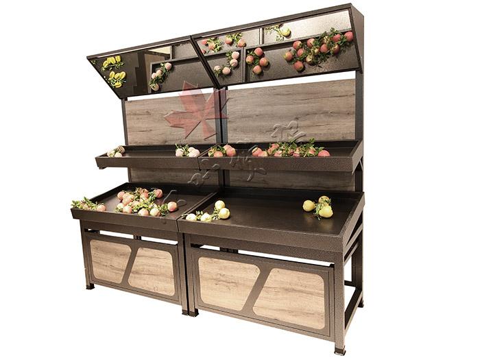 HY-永辉款复古双层蔬菜水果货架