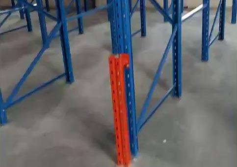 安陽某倉庫橫梁式貨架安裝完畢