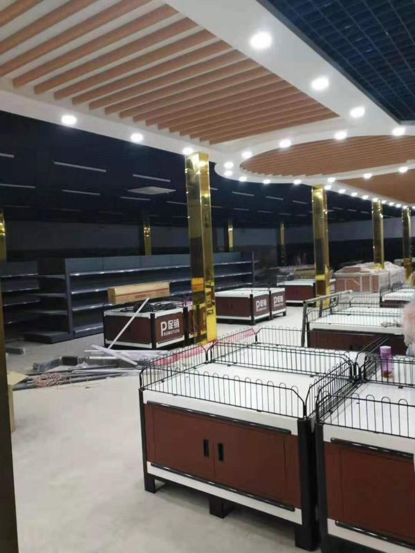 開封尉氏大營鎮喜洋洋購物廣場超市貨架案例