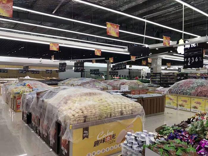 商丘虞城木兰家天下购物广场超市货架案例零食区