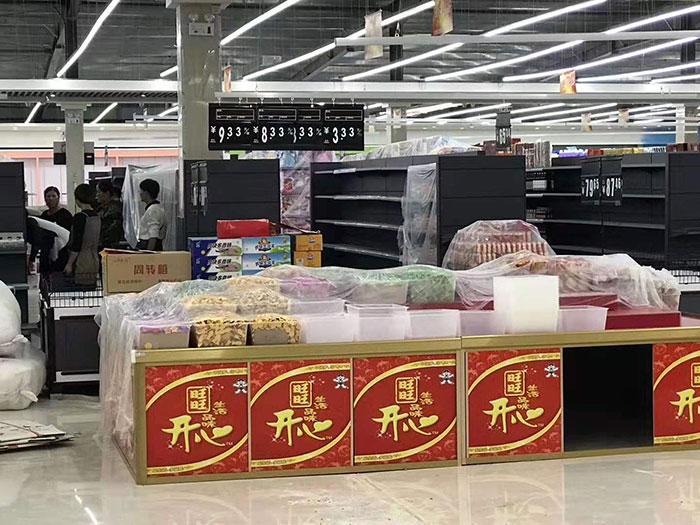 商丘虞城木兰家天下购物广场超市货架案例促销区
