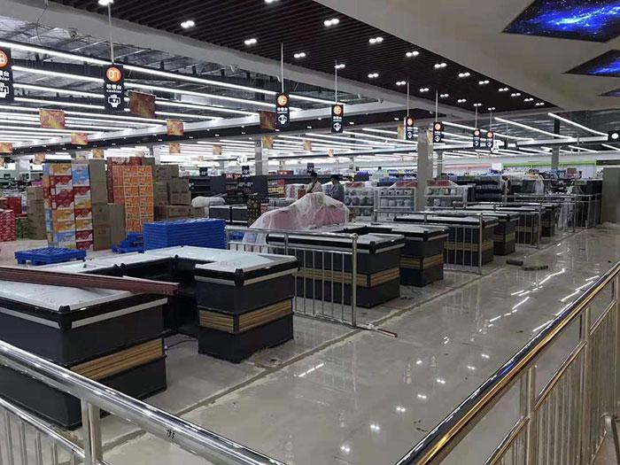 商丘虞城木兰家天下购物广场超市货架案例收银区