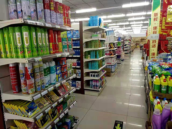 南陽社旗縣朱集鎮尚購購物廣場雙麵超市貨架