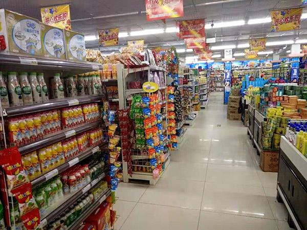 駐馬店市正陽縣永興鎮好友多購物廣場雙麵貨架