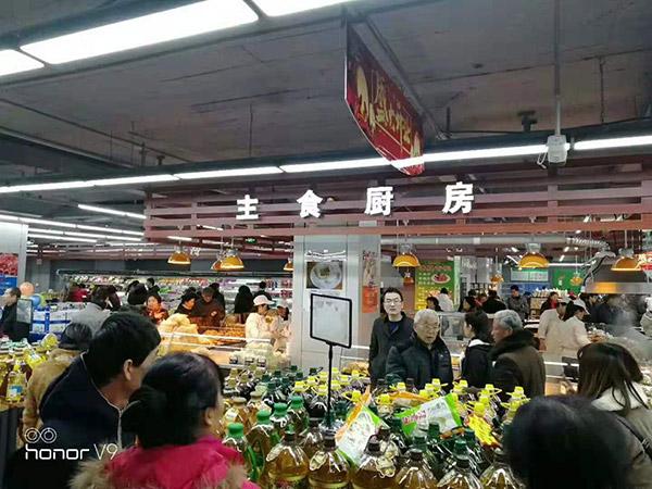 山西长治华龙国际千友超市生意火爆