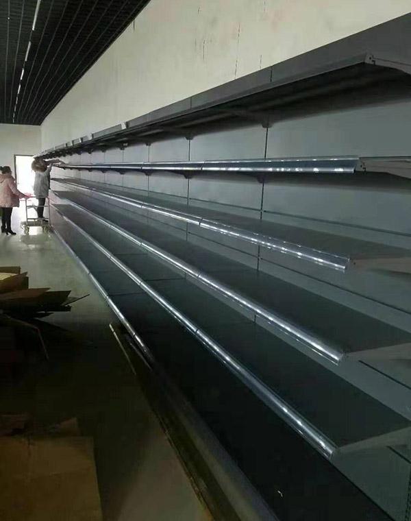 海南省陵水怡家综合超市单面靠墙货架