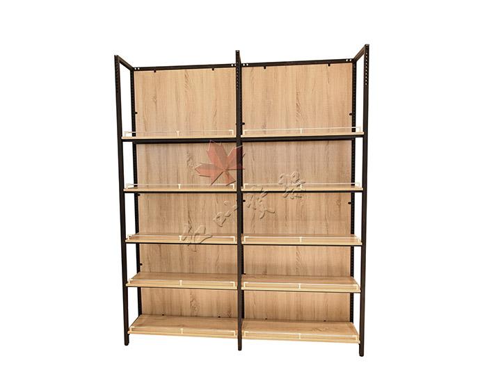 精品店单面钢木货架