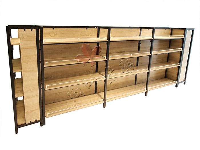 精品店雙麵鋼木貨架