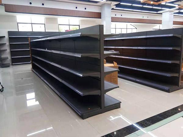 周口西華縣太平洋潤發購物廣場雙麵安辰灰貨架
