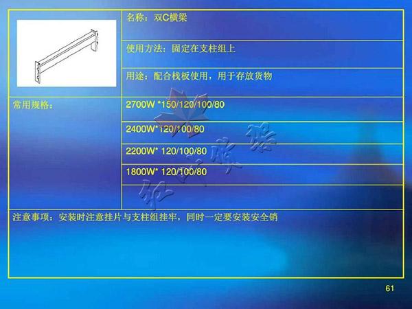 雙C橫梁尺寸使用方法以及用途