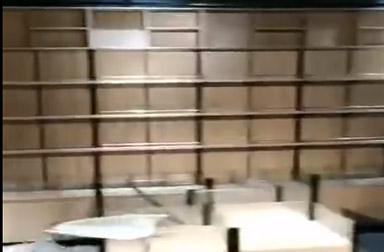 鄭州某超市貨架安裝完畢,效果還行