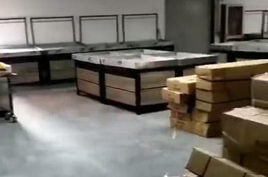 洛陽市孟津縣會盟金三角購物廣場超市貨架案例