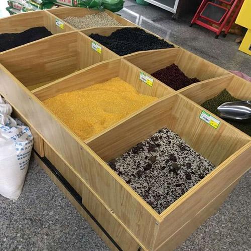 超市放米面的货架叫什么名字