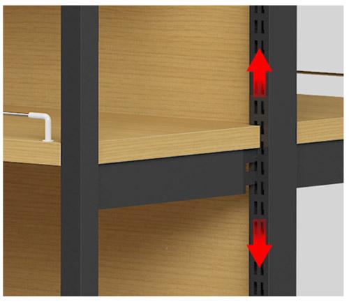 河南货架厂家告诉你商超钢木结合货架怎么自行调整
