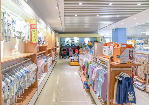 钢木母婴店货架