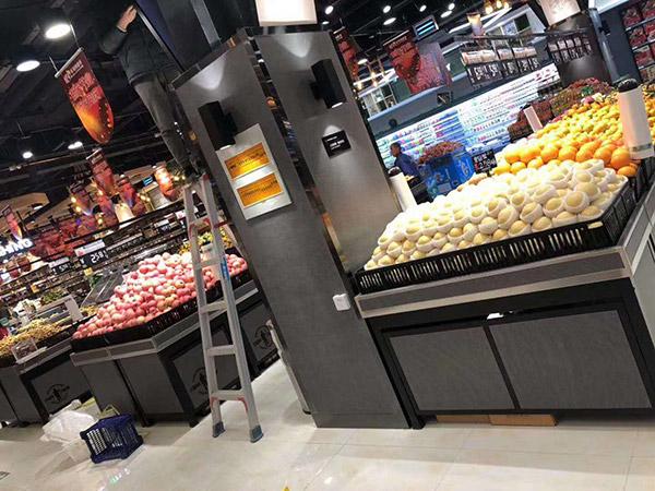 果蔬区货架
