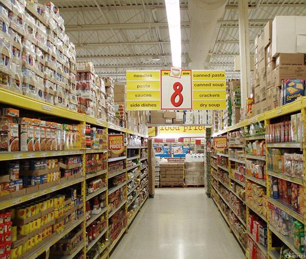 超市貨架顏色為啥白色的居多而不用黃色的