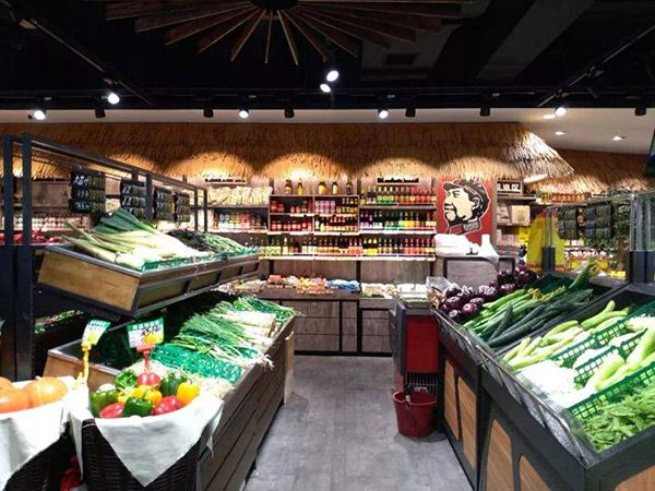 四米長三米二寬的生鮮超市蔬菜水果貨架如何擺放
