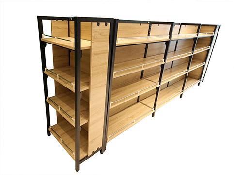 HY-双面钢木超市货架