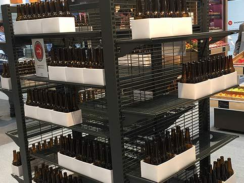 进口食品货架进口红酒架