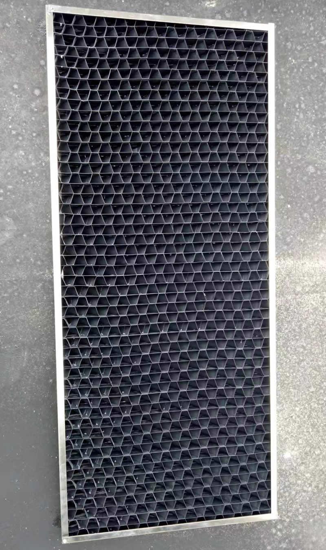 冷却塔进风格栅黑色PVC材质 可做厚度80mm不锈钢边框