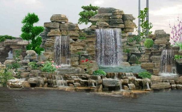 园林中用千层石制作的假山